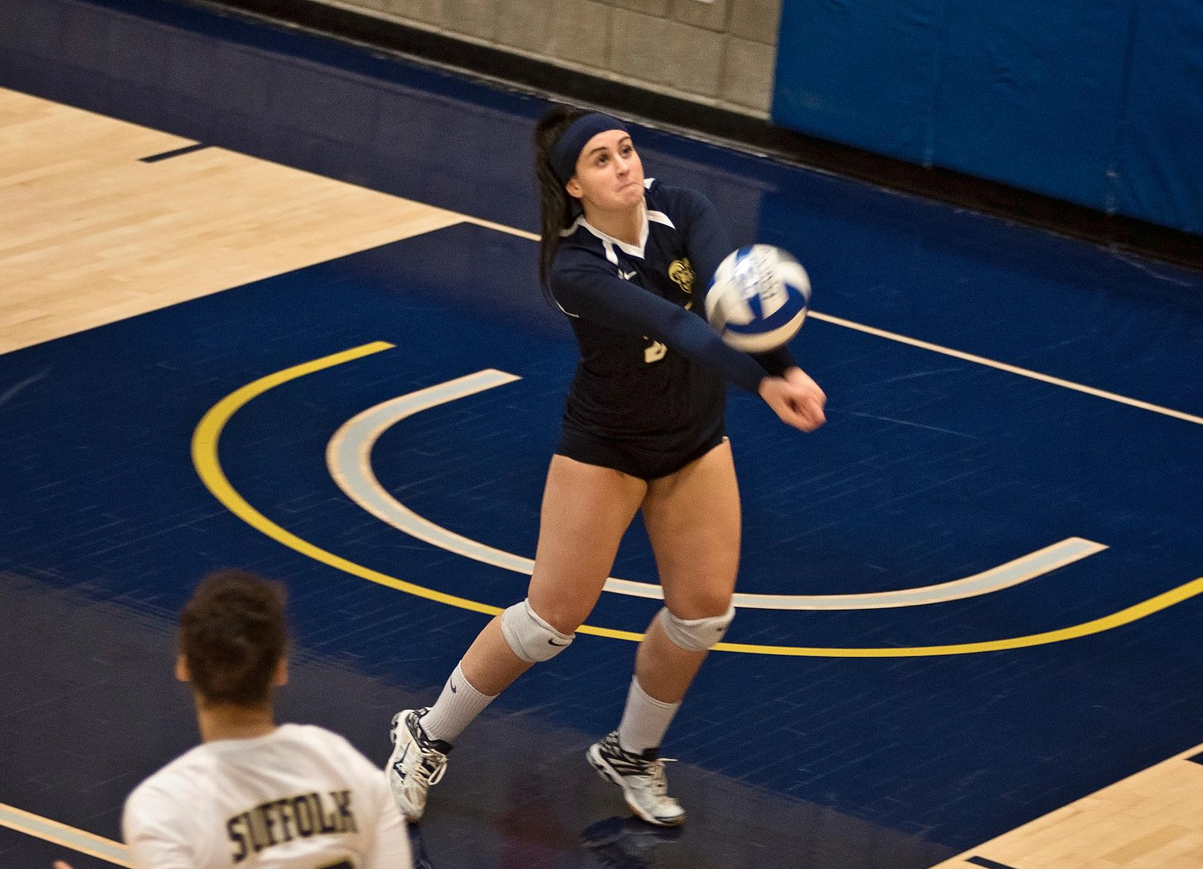 Volleyball's Season Closes in Straight Sets in GNAC Quarterfinals at JWU