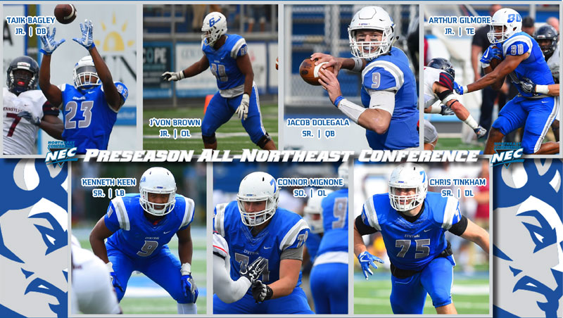 Football Picked First; Seven Named Preseason All-NEC