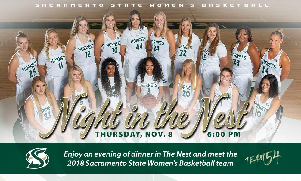 INAUGURAL NIGHT IN THE NEST, HOSTED BY WOMEN'S BASKETBALL, SCHEDULED FOR THURSDAY, NOV. 8