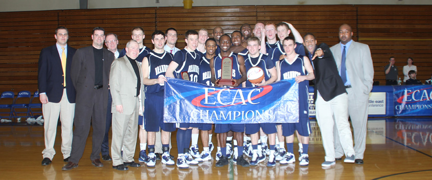 Men's hoops claims ECAC title, 65-50, over Eastern Conn.