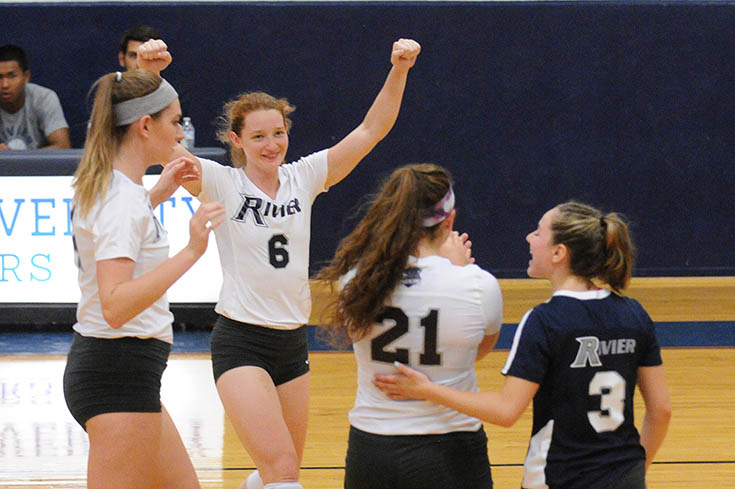 Women's Volleyball: #2 Rivier advances to GNAC Tournament Semifinals