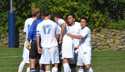 Early Second Half Goal Propels Lasell Past Emmanuel in Men's Soccer