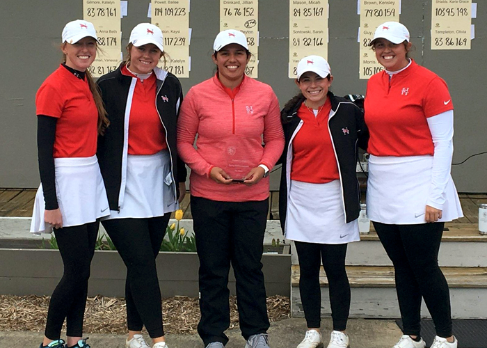 The Huntingdon women's golf team finished third in the Piedmont Spring Invitational. (Photo submitted)