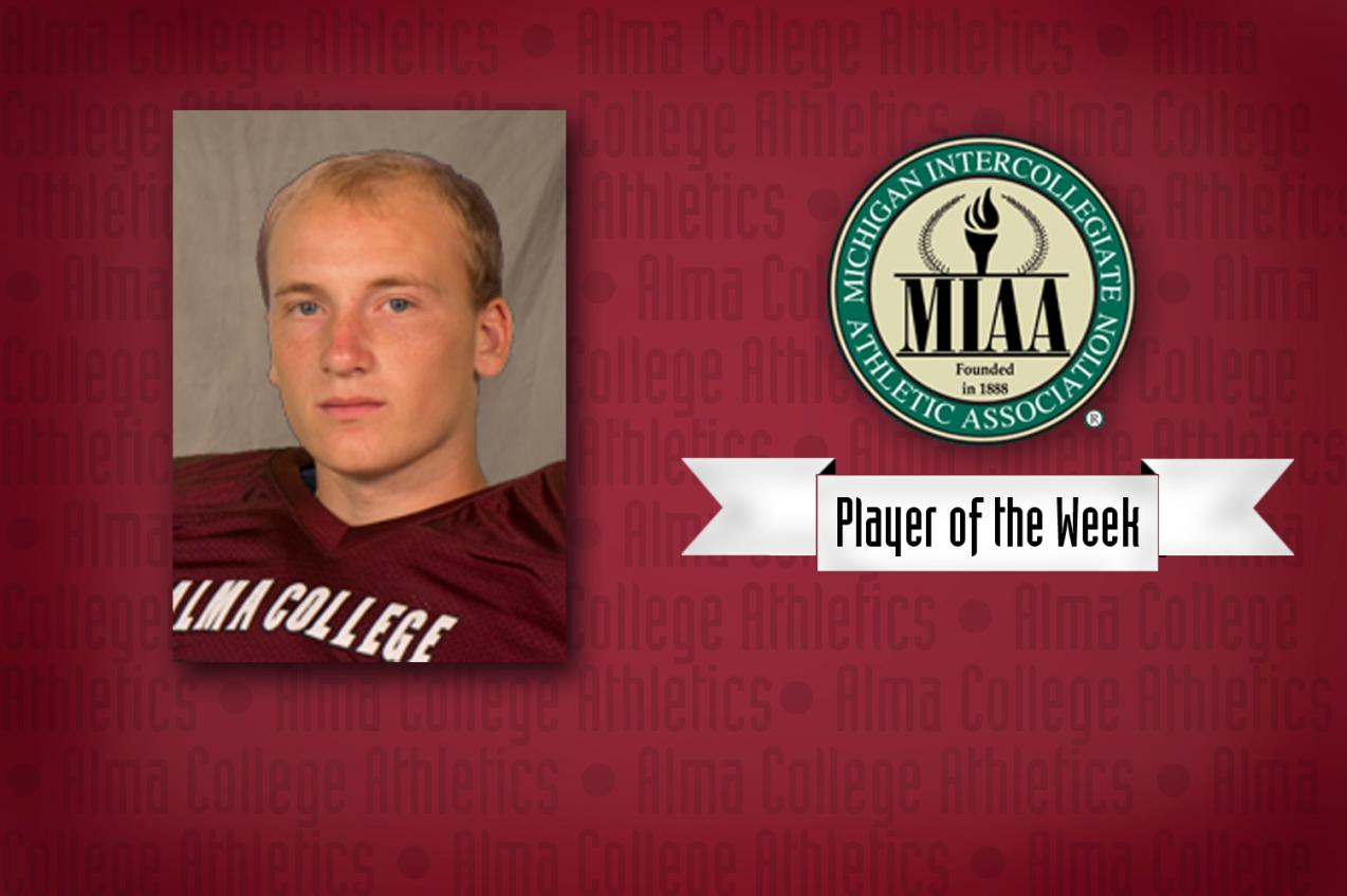 Alma's McCombie named Special Teams Player of the Week