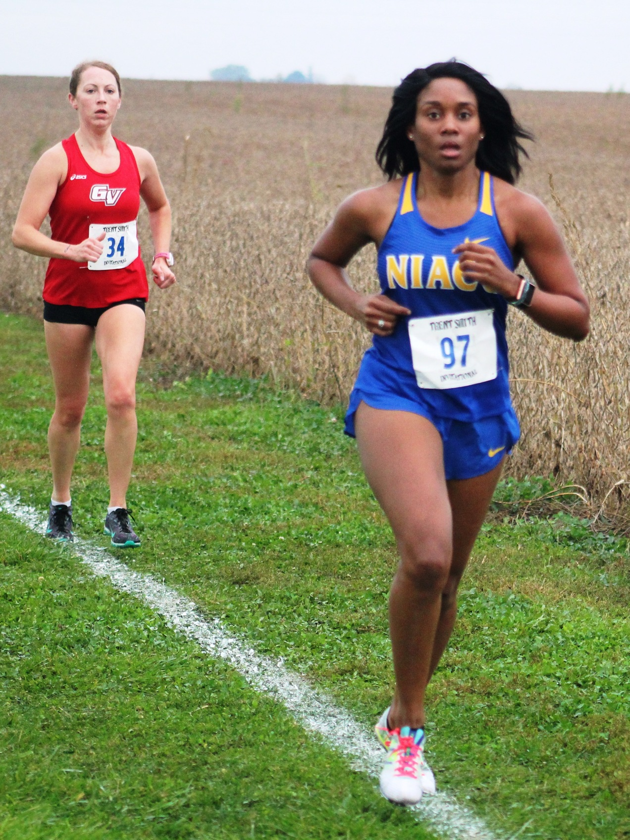 NIACC's Keisha Gonzague runs at the Trent Smith Invitational on Oct. 13. Gonzague was an honorable mention all-region performer in 2016.