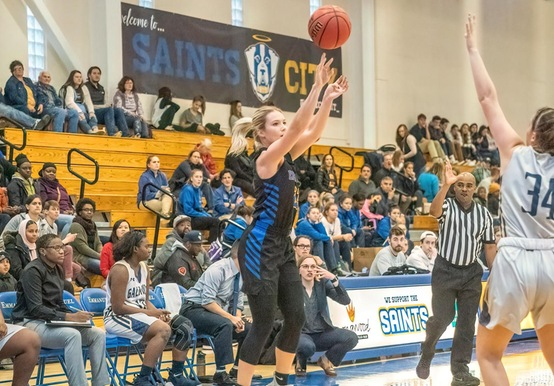 SAINTS RUN AWAY LATE IN 84-65 VICTORY OVER SALEM STATE