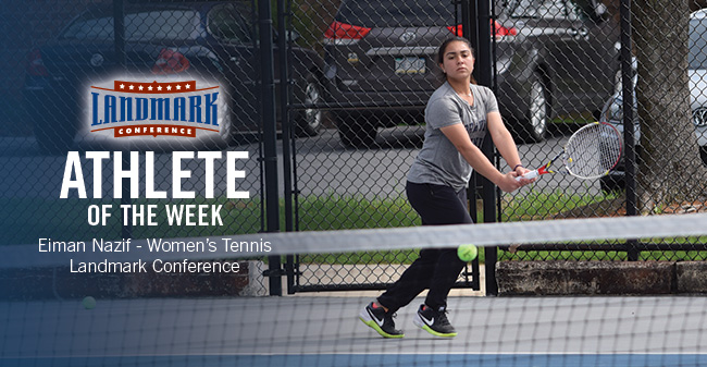 Nazif Selected as Landmark Conference Women's Tennis Athlete of the Week