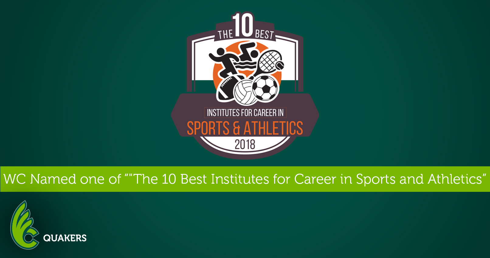 "Wilmington Named One of ""The 10 Best Institutions for Careers in Sports and Athletics in 2018"""