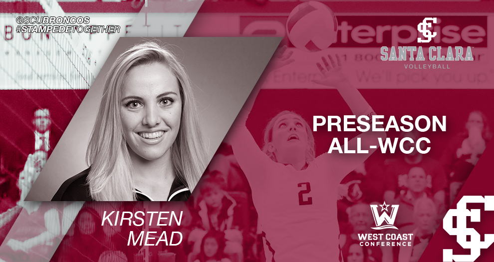 Volleyball's Mead Named Preseason All-WCC for Third Straight Year