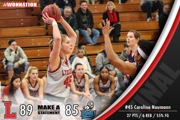 Women's Basketball Edges Eastern Mennonite, 89-85