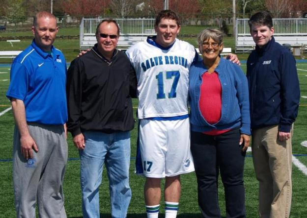Salve Regina University honored A.J. Albert on Senior Day