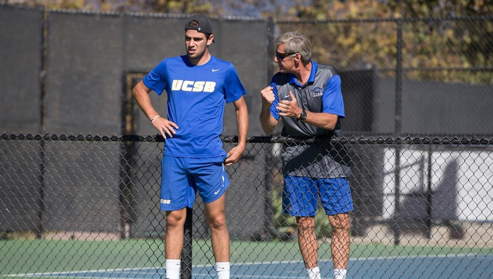Nicolas Moreno de Alboran (left) being coached up by Marty Davis (right) (photo by Eric Isaacs).
