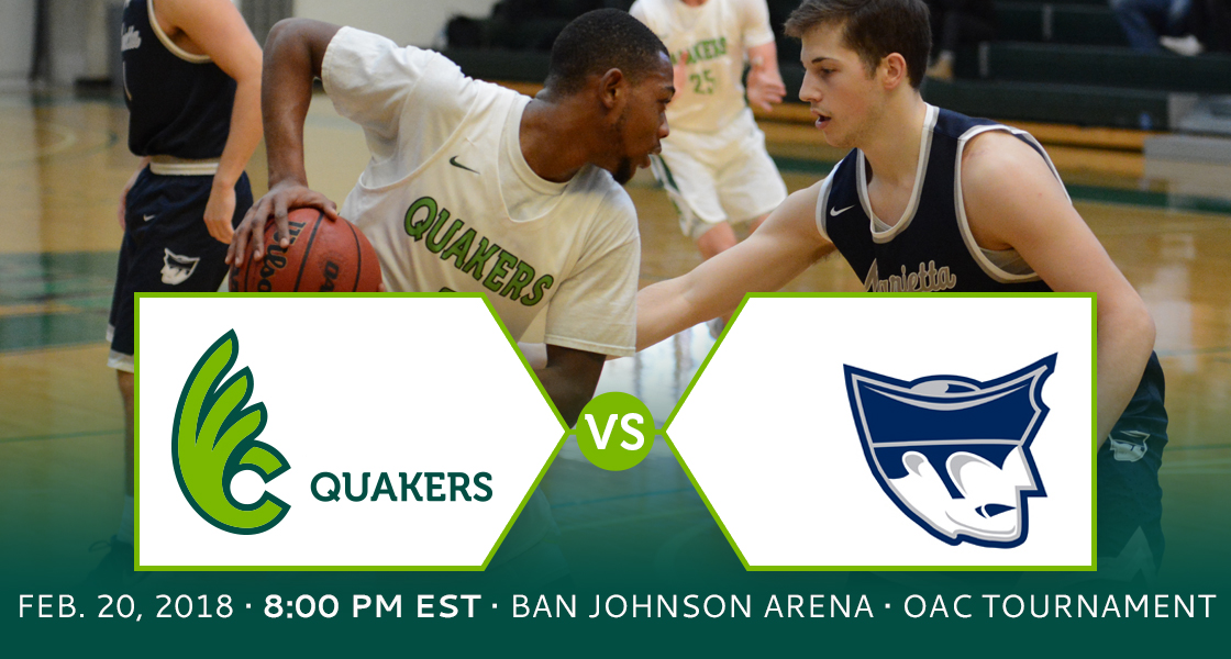 OAC Tournament Preview - No. 7 Men's Basketball at No. 2 Marietta