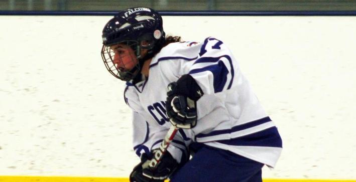 Women's Hockey ties program goals record in season-opening victory