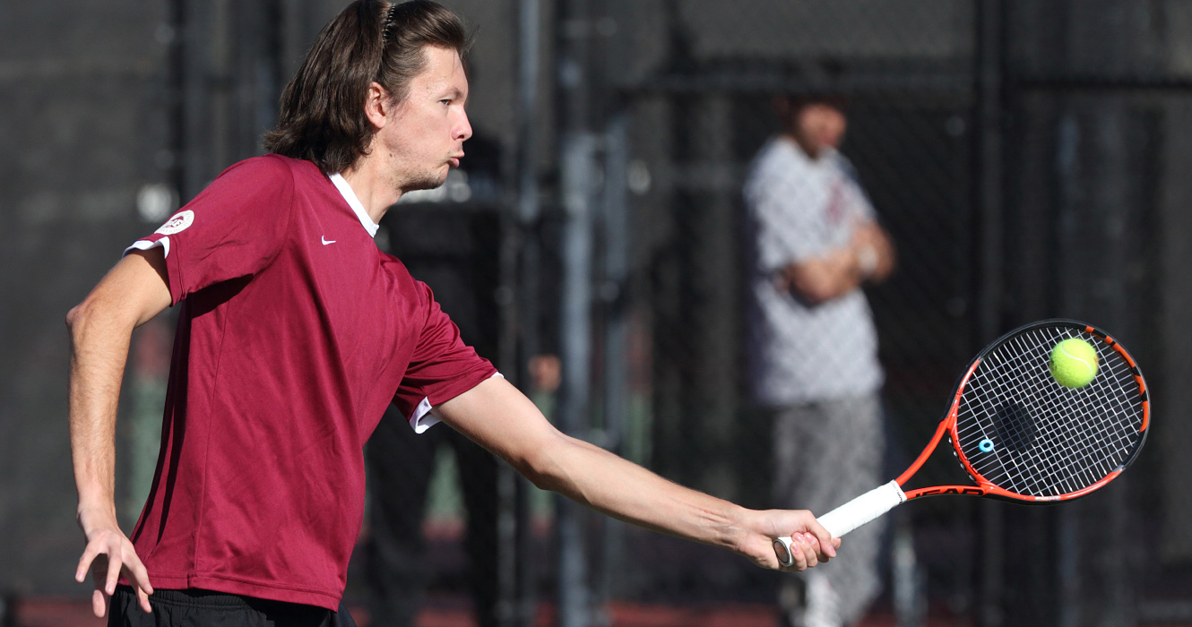 No. 74 Men's Tennis Bests Fresno State 4-0; Earns First Win Over Bulldogs in Program History