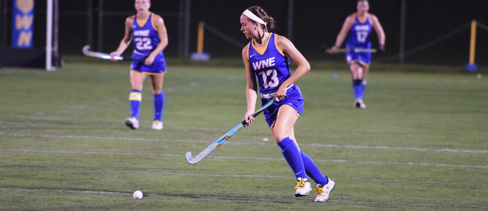 Jackie Clark scored the game-winning goal in the final minute of Western New England's 3-2 victory over Roger Williams on Friday. (Photo by Rachael Margossian)