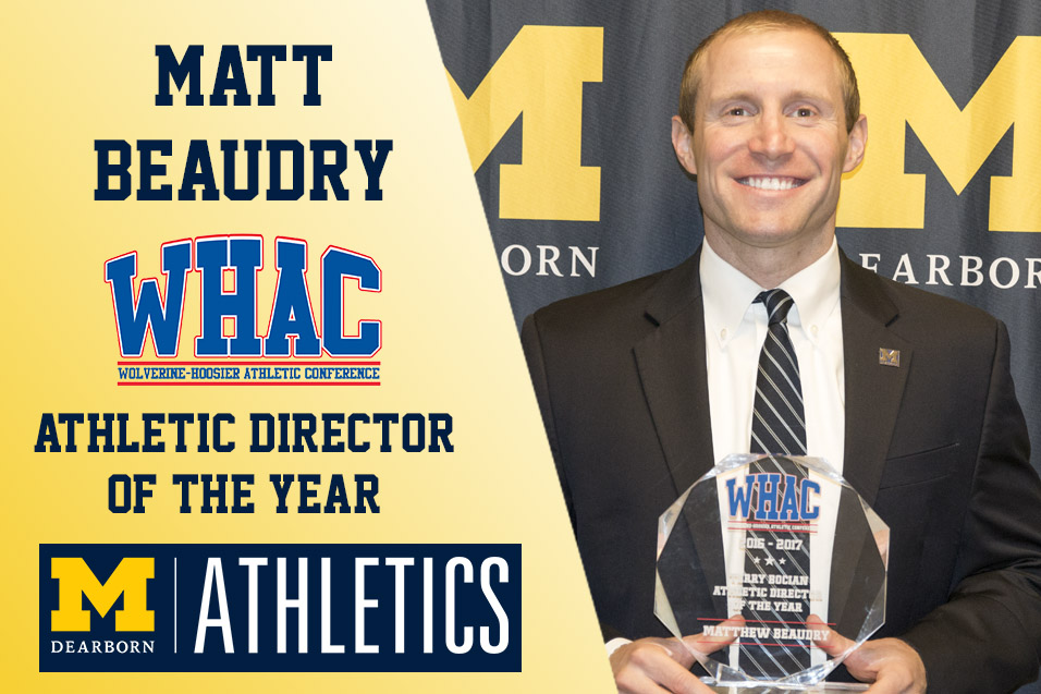 Photo for UM-Dearborn's Beaudry named WHAC AD of the Year