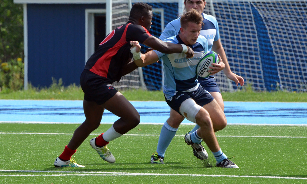 Three second half tries give men's rugby win against Seneca