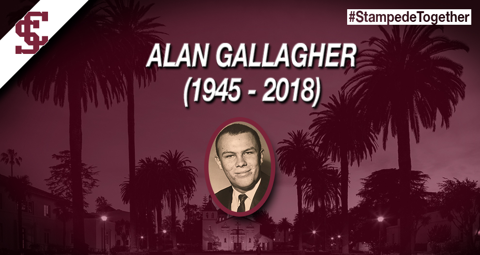 Alan Gallagher (1945-2018), Santa Clara Hall of Fame Baseball Star