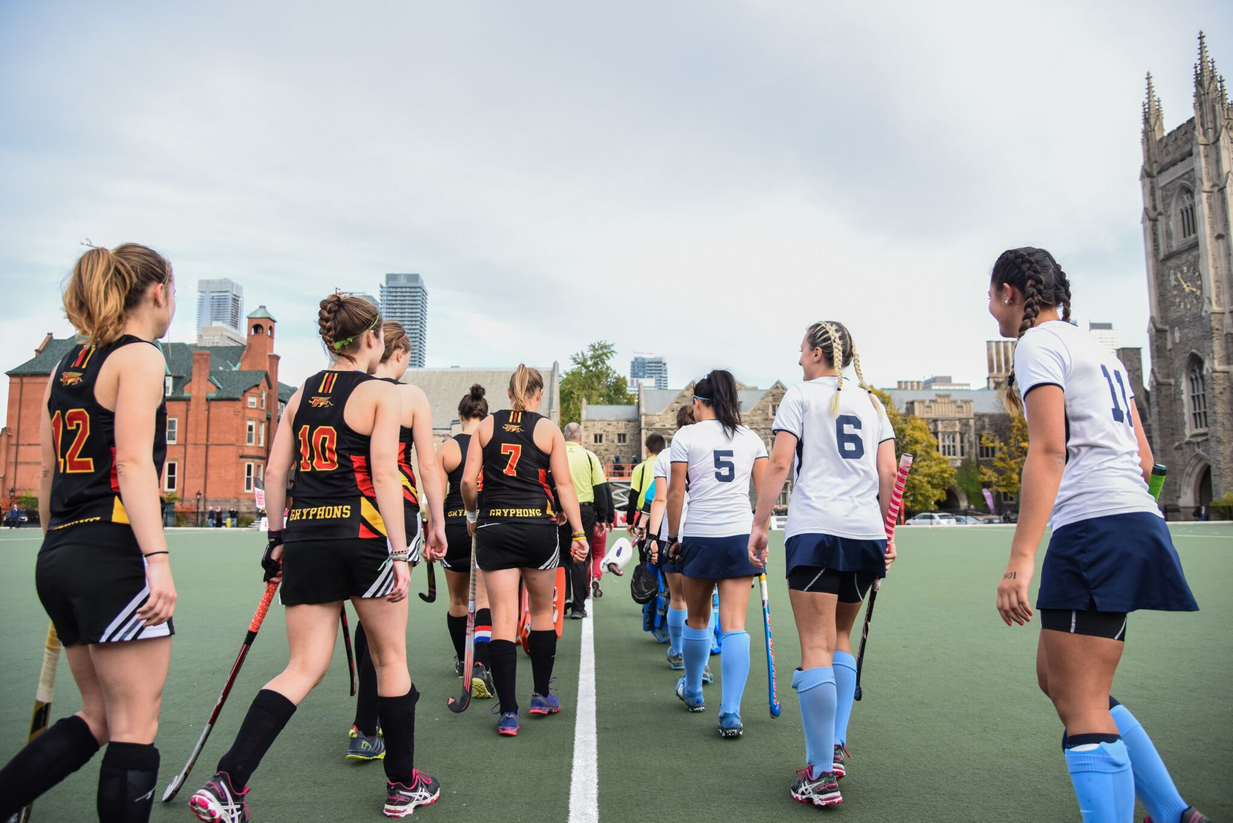 GAME 1: 42nd women's field hockey championship  Strong second half lifts Vikes over Gryphons