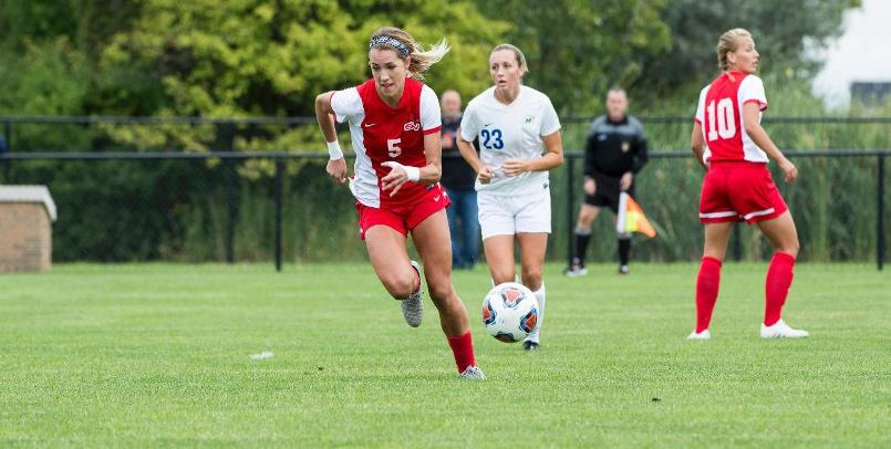 Ashley Henderson notched her first goal of the season in the Thursday victory over Cedarville...