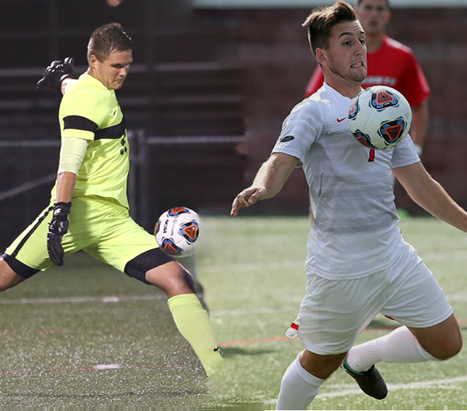 Cortland's Keller and Kelly announced as SUNYAC Men's Soccer Athletes of the Week