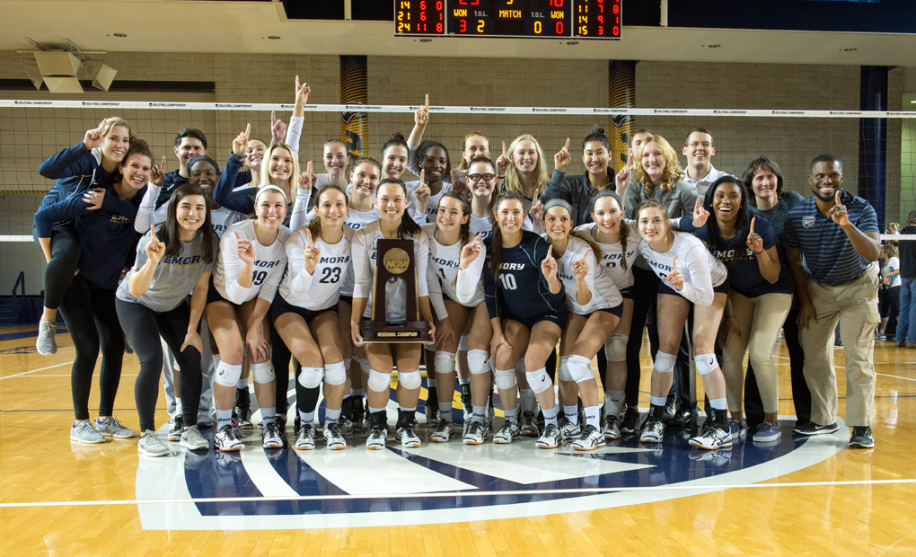 Emory Volleyball Sweeps Berry to Capture Regional Title - Advances to NCAA Quarterfinals