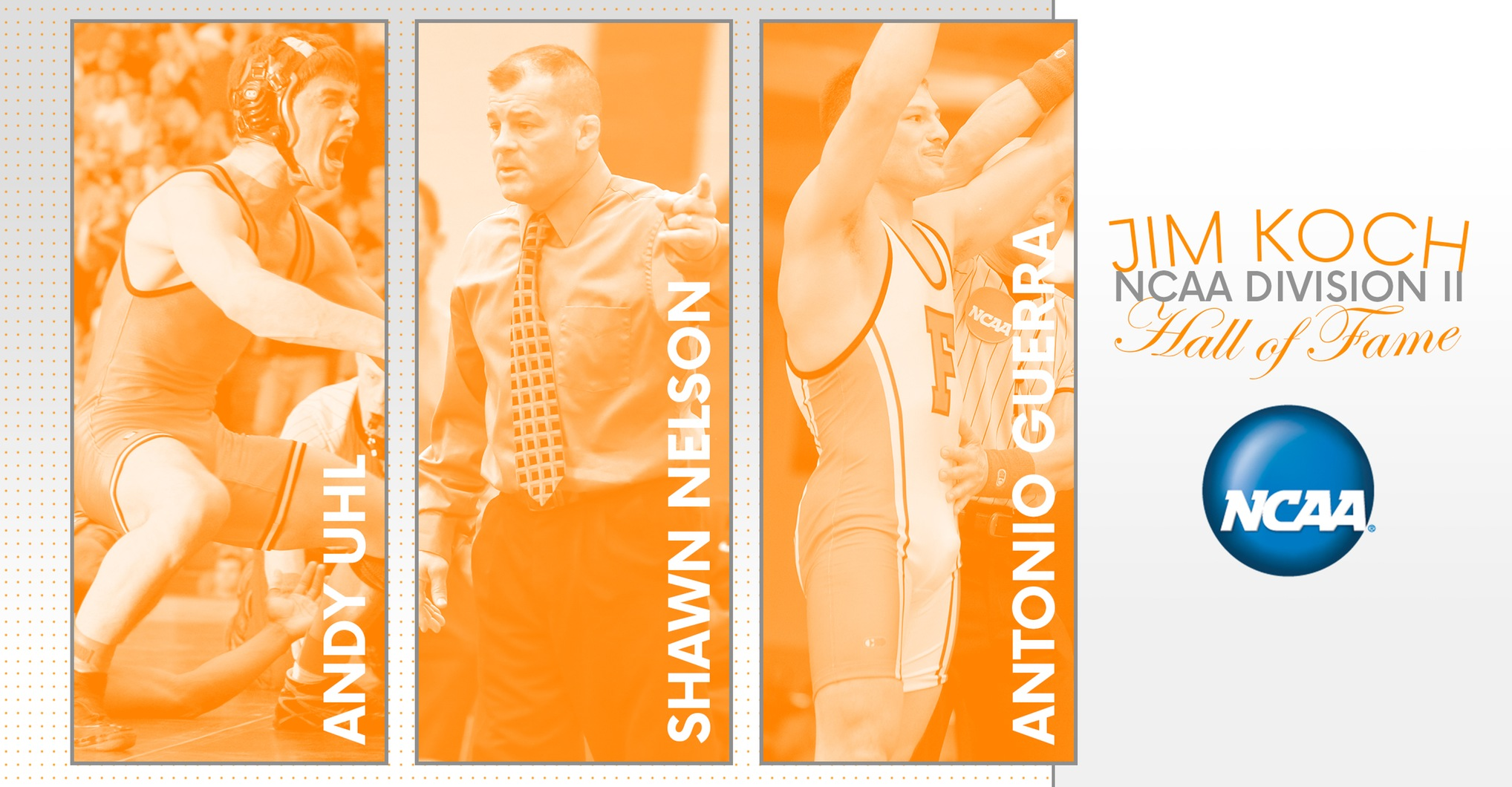 Three Roughnecks to Enter NCAA Division II Wrestling Hall of Fame