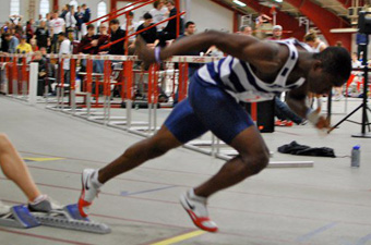 Asante wins UAA title in 55 meters, Norton claims 5K