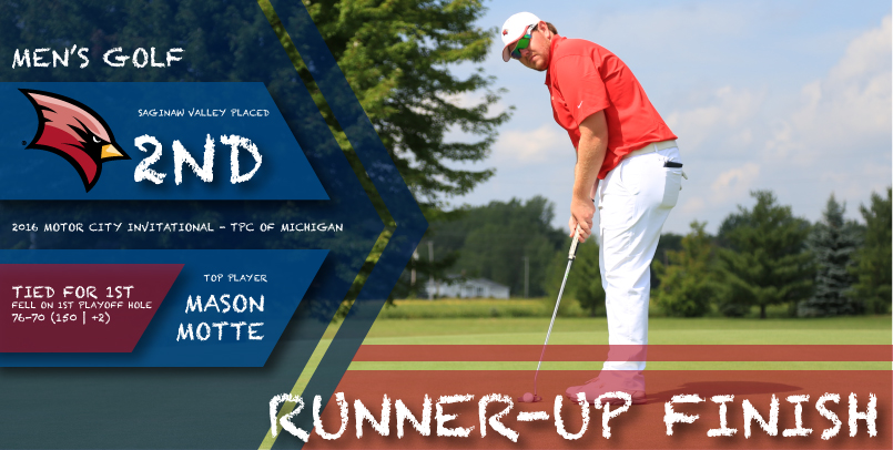 Motte's 70 paces SVSU in round two of Motor City Invitational