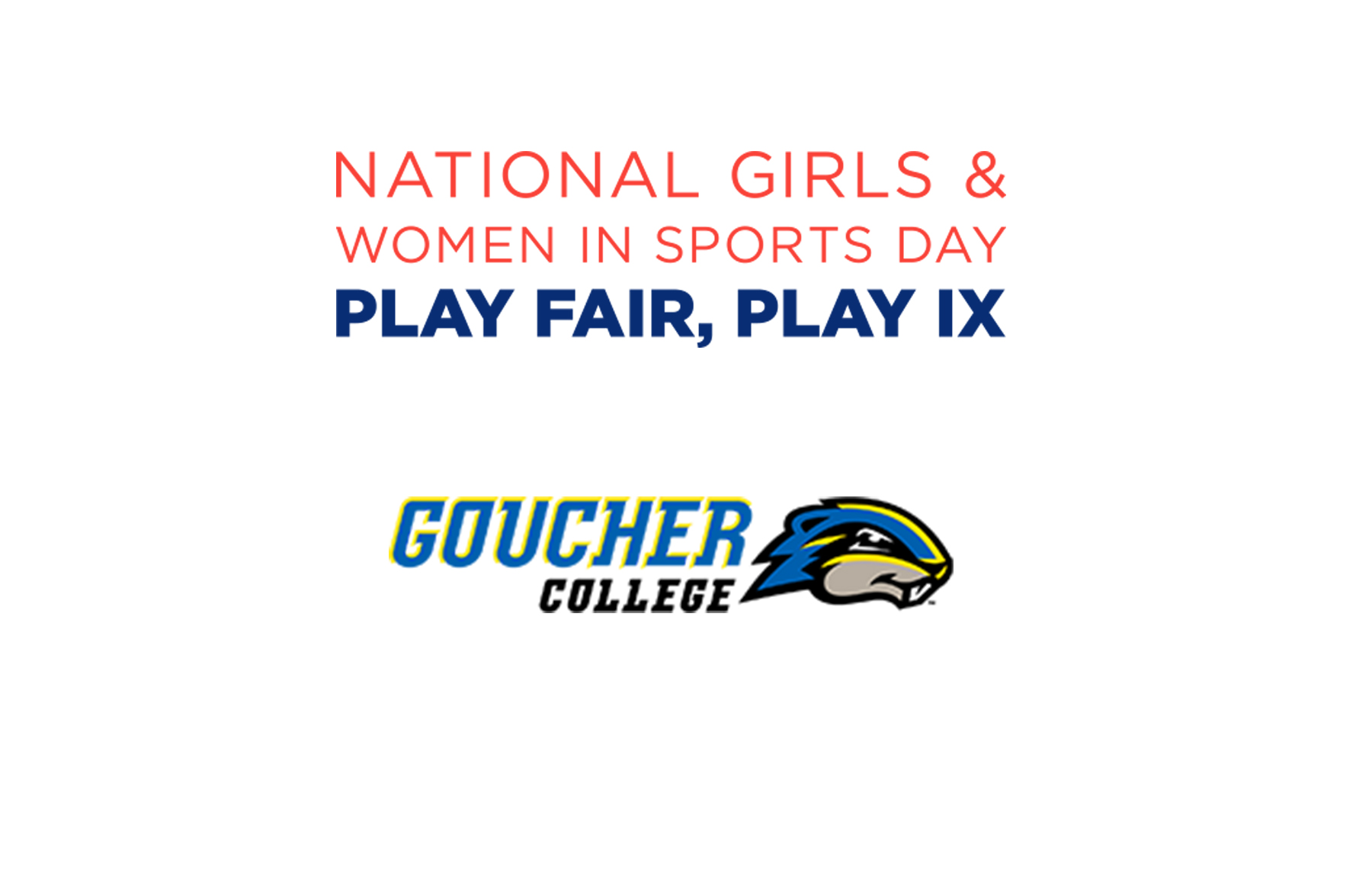 Goucher College to Host National Girls & Women in Sports Day Celebration Saturday