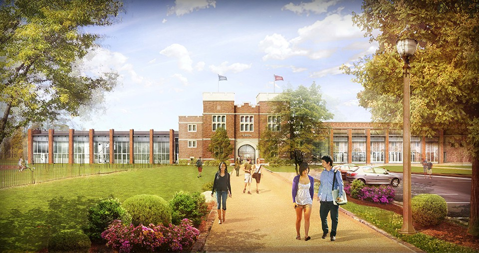 exterior rendering of Sumers Recreation Center