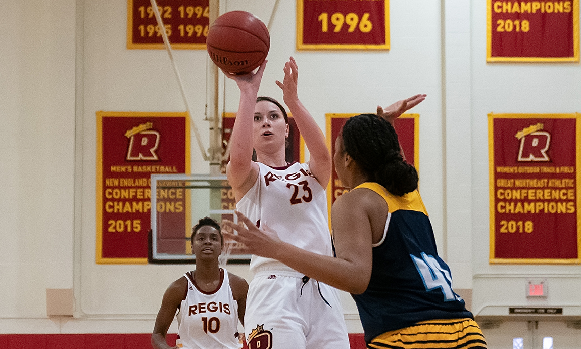 Women's Basketball Pulls Away for GNAC Victory