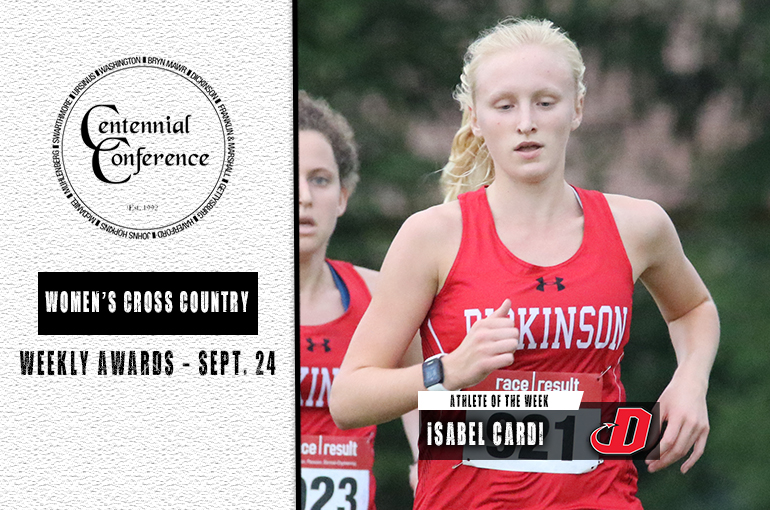 Isabel Cardi, Athlete of the Week, 9/24/19