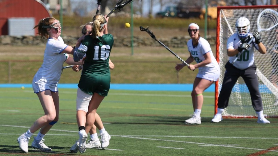 Salve Regina fell in a offensive shootout with UNE in CCC play (Photo by Skip Slysz).