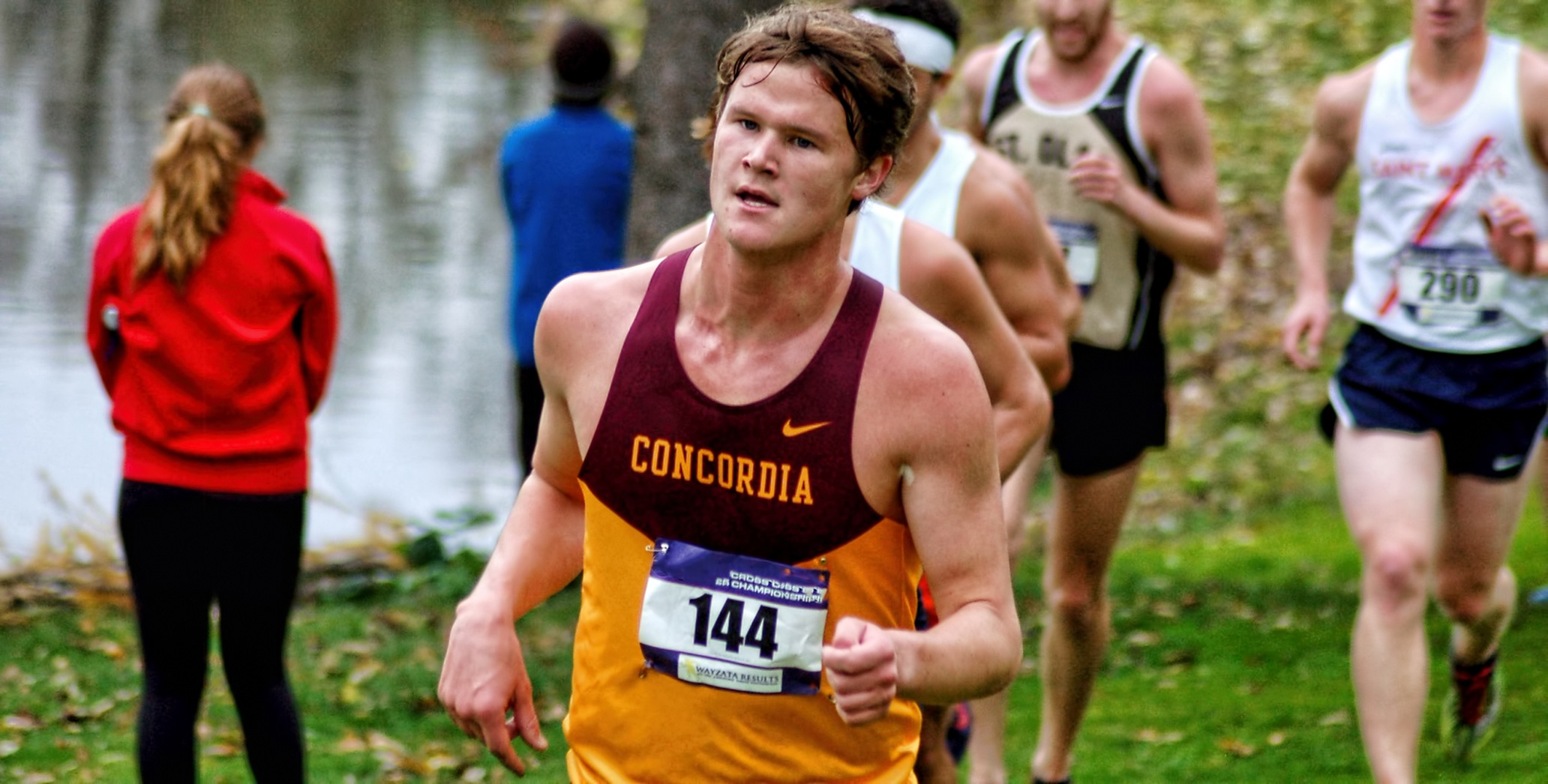 Senior Nick Solheim was one of five Cobbers to finish in the Top 40 at the UND Invite.