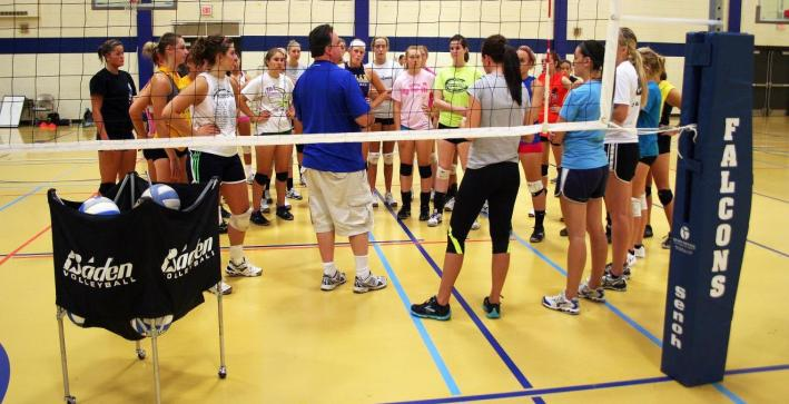 Youthful exuberance surrounds volleyball training camp