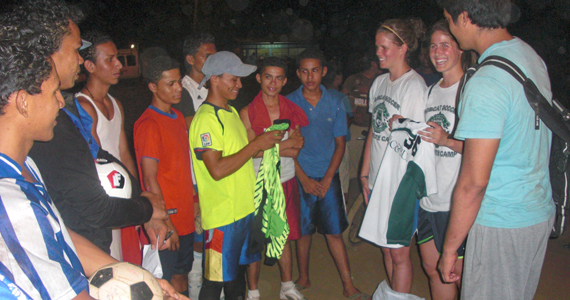GCSU's Moore, Teresi Visit Nicaragua with Little Feet Soccer Balls in Tow