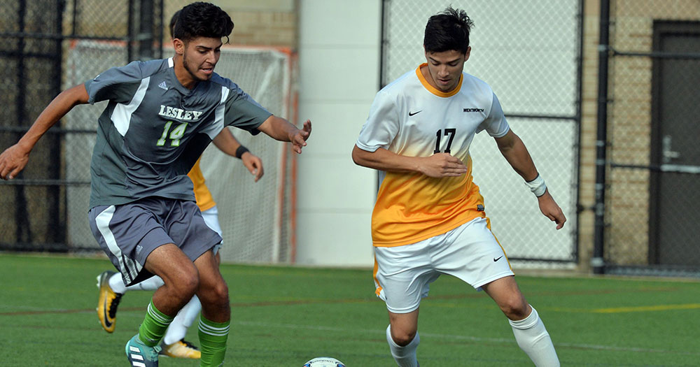 Second Half Goals Lift Men's Soccer to Win Over Maine-Farmington