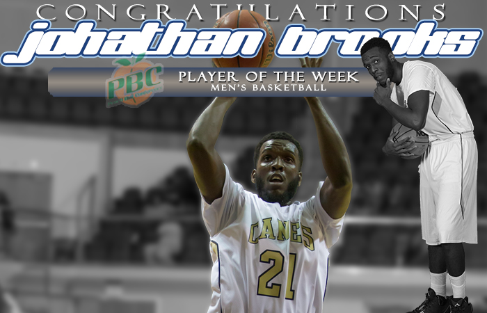 Brooks Named Peach Belt Conference Player Of The Week
