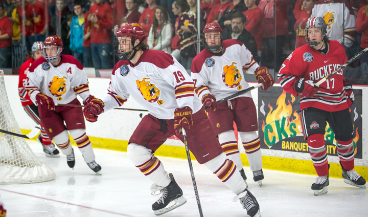 Deciding Game Three Set In CCHA Playoff Series After Bulldog Setback In Game Two