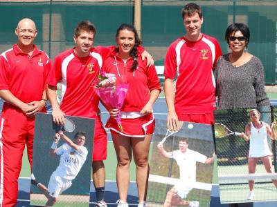 Firebirds Men's Tennis Soars to 9-0 Victory on Senior Day
