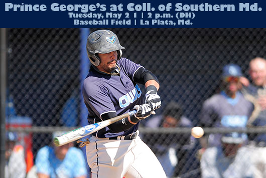 Prince George's Baseball Starts Final Week Of Regular Season With Doubleheader At The College of Southern Maryland On Tuesday