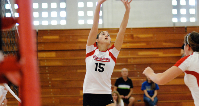 Hornet Volleyball Defeats Mary Washington in Four Games