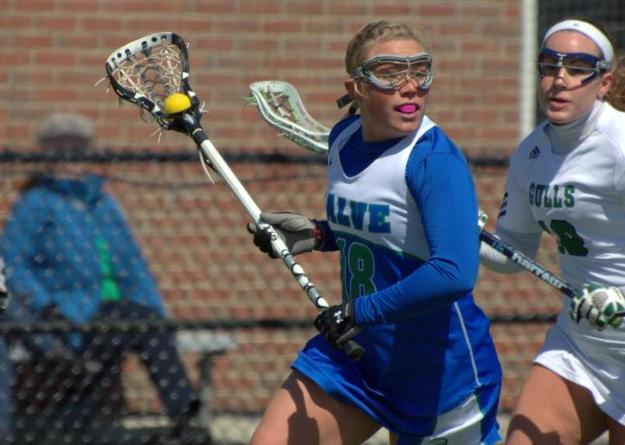 Sophomore Erin Gerhard caused three turnovers and scored a goal in Salve Regina's 18-9 win over Rhode Island College.