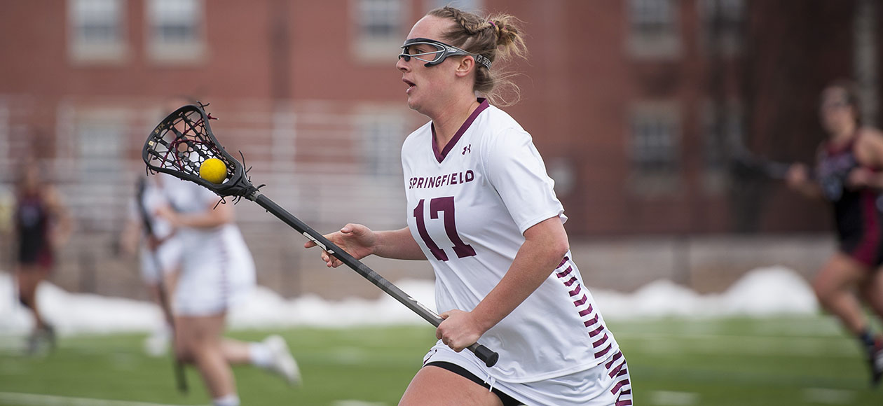 Women's Lacrosse Edges Wheaton, 7-3, in NEWMAC Play
