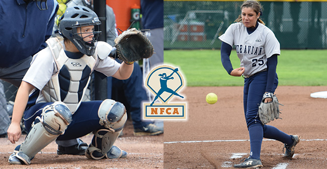 Catcher Janae Matos '18 and Pitcher Josie Novak '18 are among the 50 players on the National Fastpitch Coaches Association Watch List for the 2018 Player of the Year.