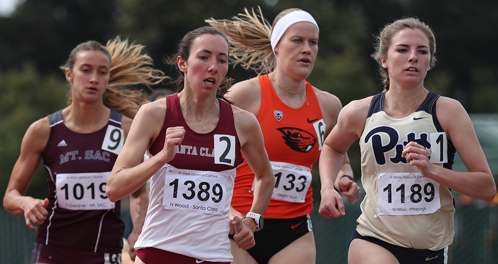 Hannah Wood is one of six seniors between the men's and women's teams competing on Saturday.