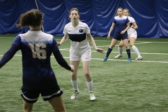 WOMEN'S INDOOR SOCCER BATTLE AT REGIONALS