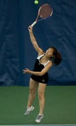 Mengdi Liu posted a victory at No. 6 singles against Green Bay